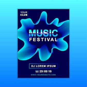 Muziek poster sjabloon
