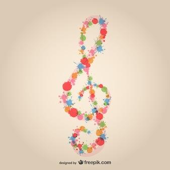 Muziek sleutel ploetert ontwerp