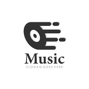 Muziek spelen logo-ontwerp