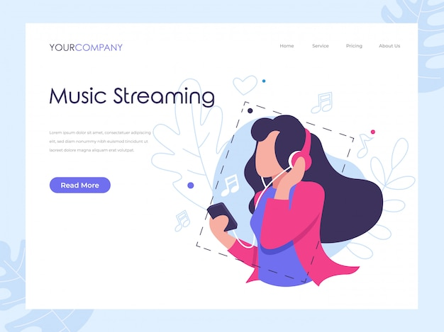 Muziek streaming landing lage
