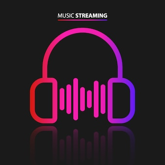 Muziek streaming pictogram