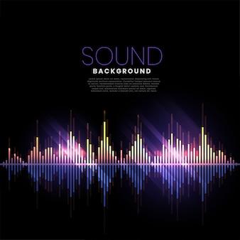Muziek track audio sound banner