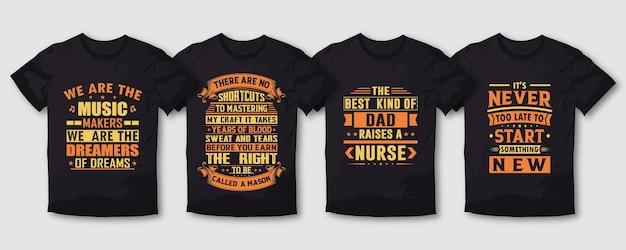 Muziek vader typografie t-shirt design bundel