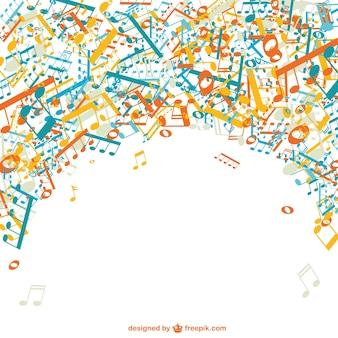 Muziek vector gratis template achtergrond