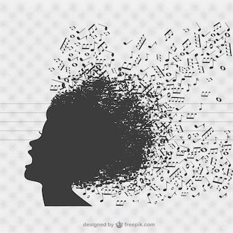 Muziek zanger vector achtergrond