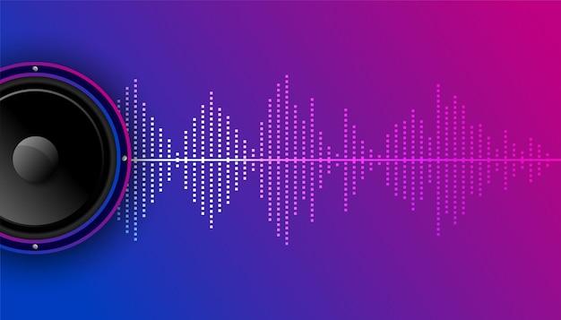 Muziekachtergrond met equalizer en luidspreker