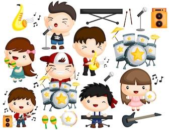 Muziekband beeldenset