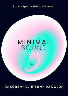 Muziekbanner. leuk neonfeest. trendy effect voor brochure. grafische achtergrond voor uitnodigingsvorm. disco en discotheekconcept. roze en turquoise muziekbanner