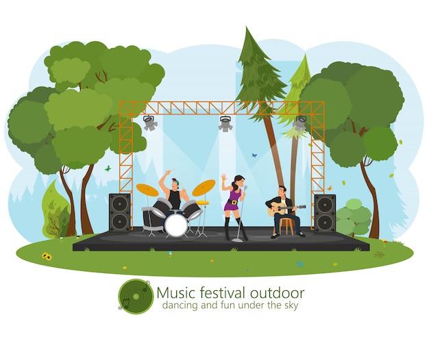 Muziekconcert in het park.