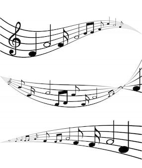 Muziekelementen met platte desiign vector illustratie
