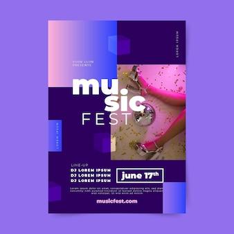 Muziekevenementposter voor 2021 jaar