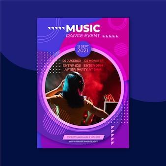 Muziekevenementposter voor 2021