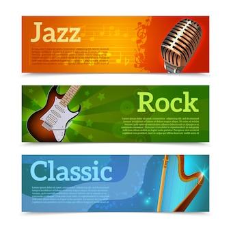 Muziekfestival banners