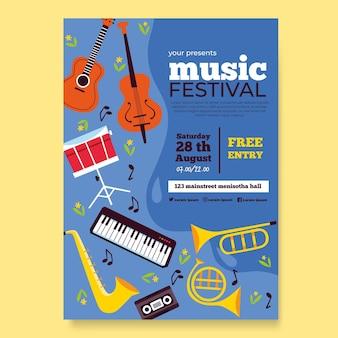 Muziekfestival concept