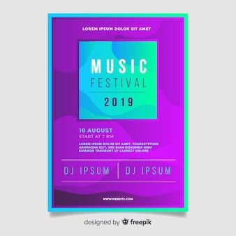 Muziekfestival-flyer