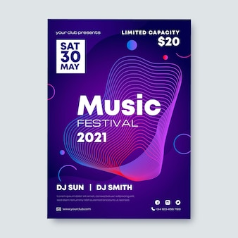 Muziekfestival folder sjabloon