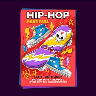Muziekfestival poster sjabloon