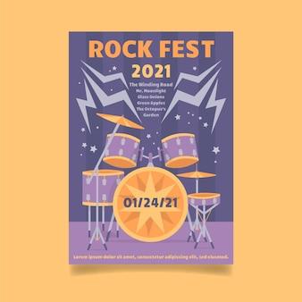 Muziekfestival poster thema