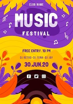 Muziekfestival poster
