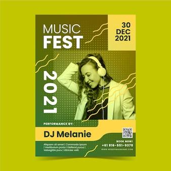 Muziekfestival posterontwerp
