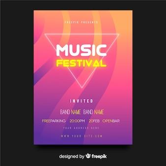 Muziekfestivalaffiche