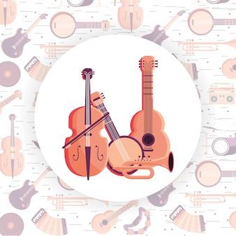Muziekinstrument cartoon