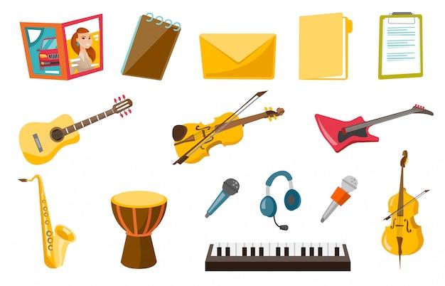Muziekinstrument ingesteld