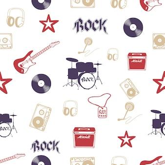 Muziekinstrument patroon. creatieve en luxe illustratie