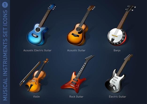 Muziekinstrument stock iconen deel 7
