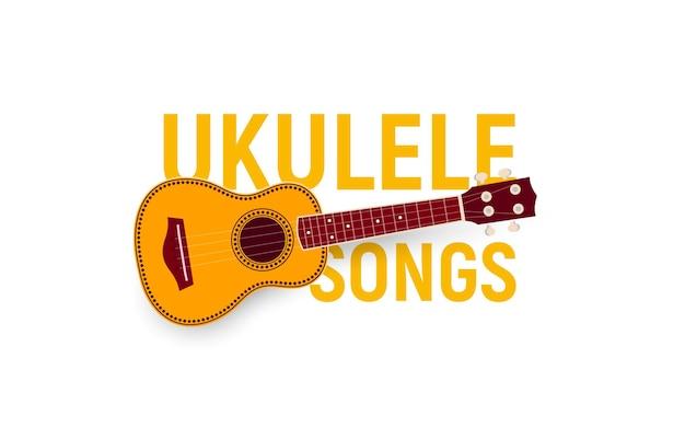 Muziekinstrument. ukulele liedjes.