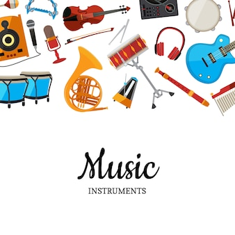 Muziekinstrumenten achtergrond