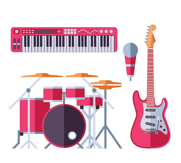 Muziekinstrumenten ingesteld