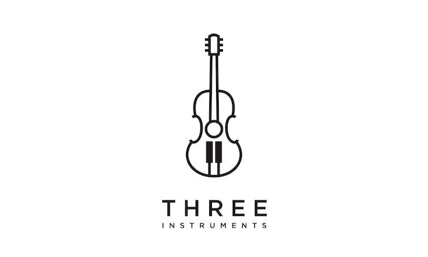 Muziekinstrumenten logo ontwerp