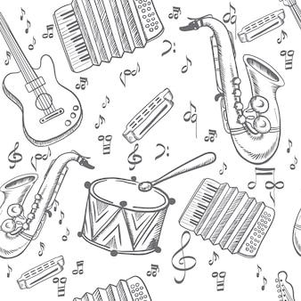Muziekinstrumenten naadloos