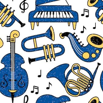 Muziekinstrumenten patroon