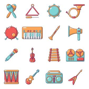 Muziekinstrumenten pictogrammen instellen