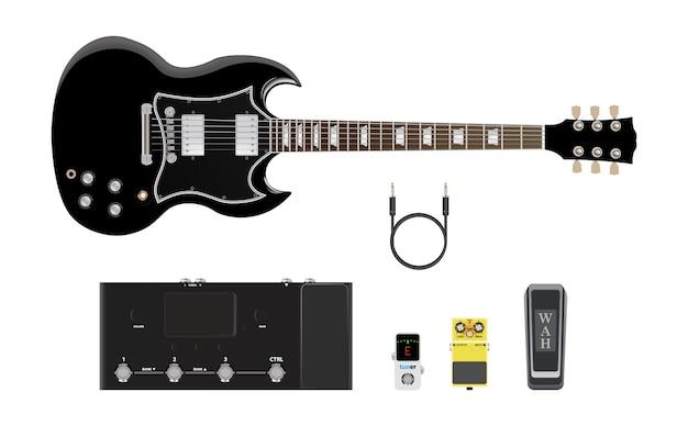 Muziekinstrumentenpictogram, gitaar en versterker