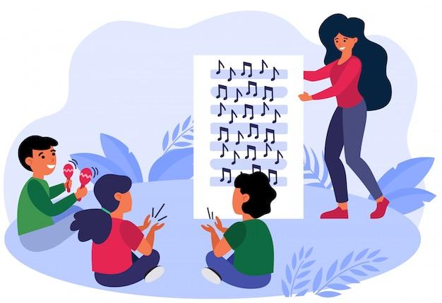 Muziekles voor kinderen