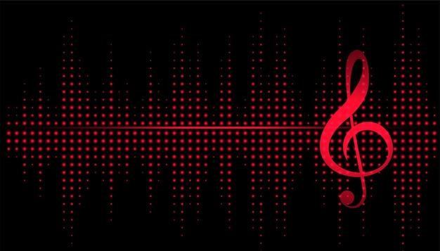 Muzieknoot met equalizerfrequentie-achtergrond