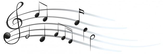 Muzieknoten en symbolen