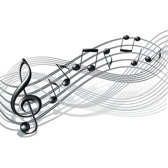 Muzieknoten op wit.