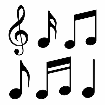 Muzieknoten pictogrammen
