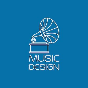 Muziekontwerp met grammofoon