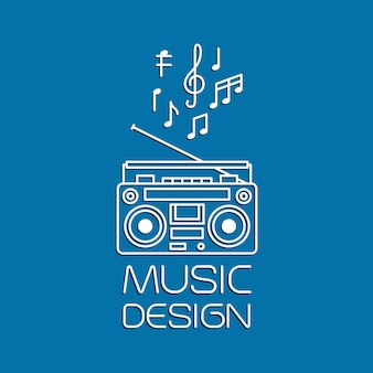 Muziekontwerp met magnetische cassettespeler