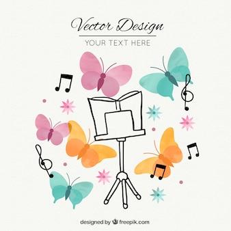 Muziekscore staan gratis vector