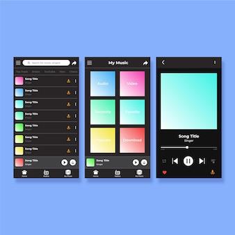 Muziekspeler app interface concept