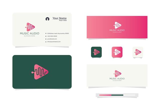 Muziekspeler logo ontwerp en visitekaartje