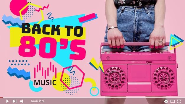 Muziekvideo op youtube-miniatuur