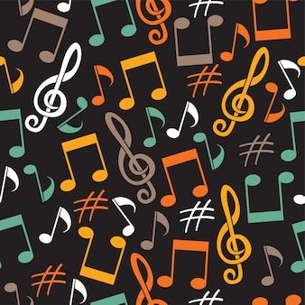 Muzikale achtergrond van notities
