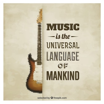 Muzikale poster van het citaat